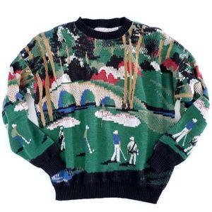 Crossing Men's Golf Sweater Knit Sweater XL